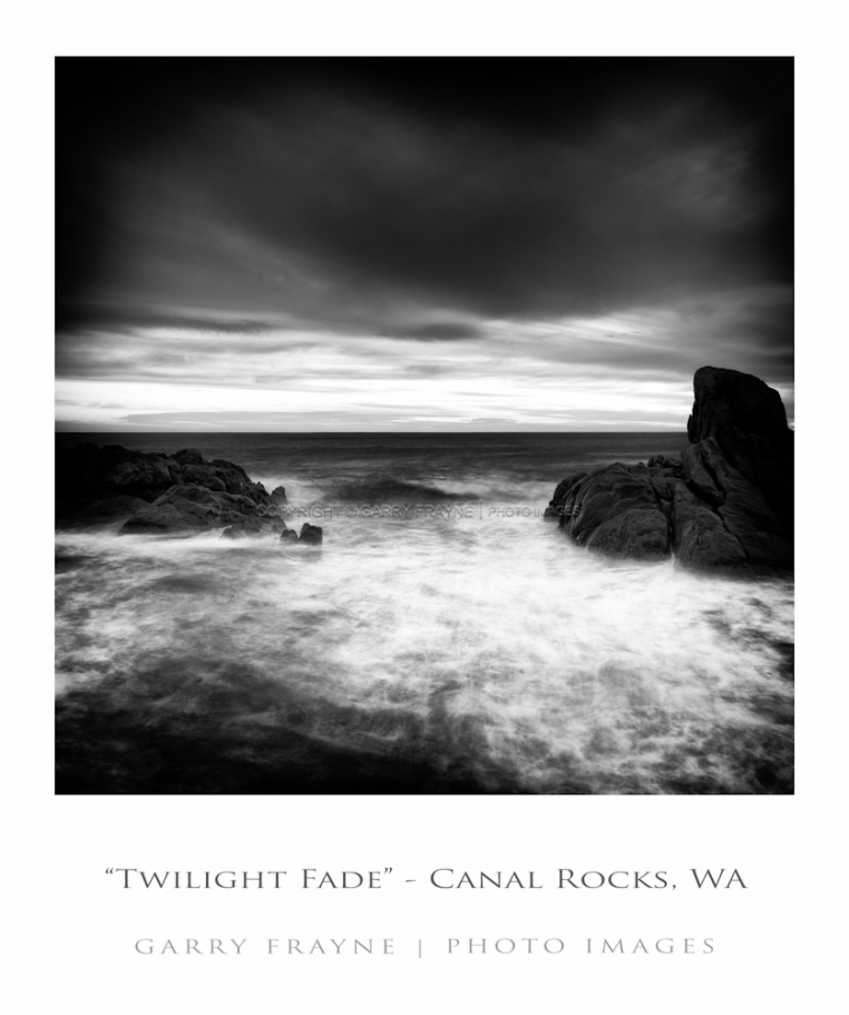 canal rocks twilight fadet 1x1 bw